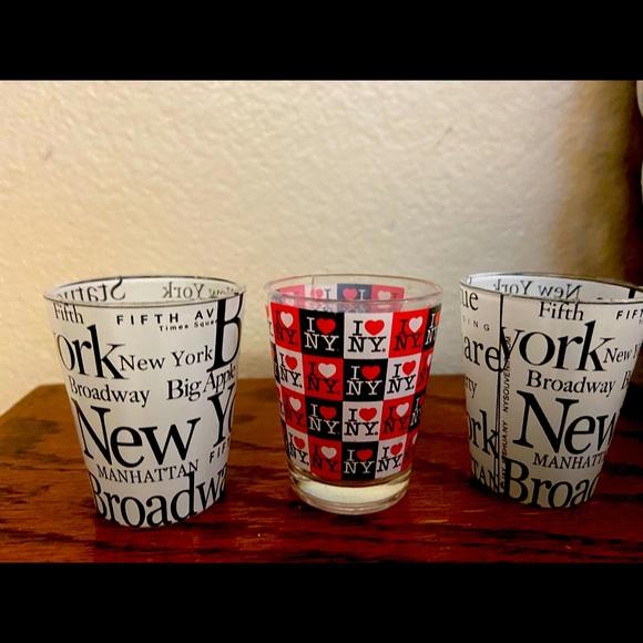 3 NYC Souvenir Shot Glasses